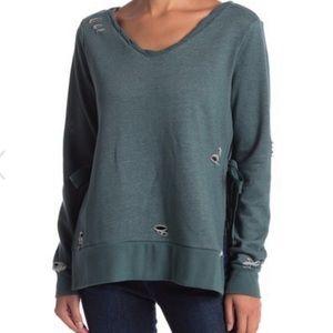 •ROMEO & JULIET•French Terry Distressed Sweatshirt